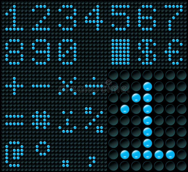 Dot-matrix Cijfers vector illustratie