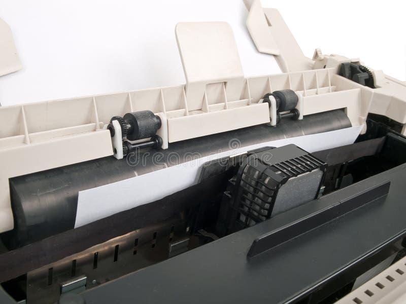 Dot matrix printer. In function stock image