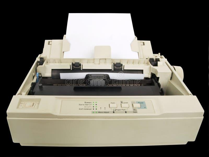 Dot matrix printer. One old and dirty dot matrix printer royalty free stock image