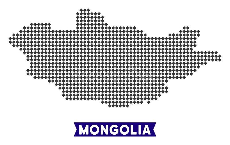 Dot Mongolia Map illustration libre de droits
