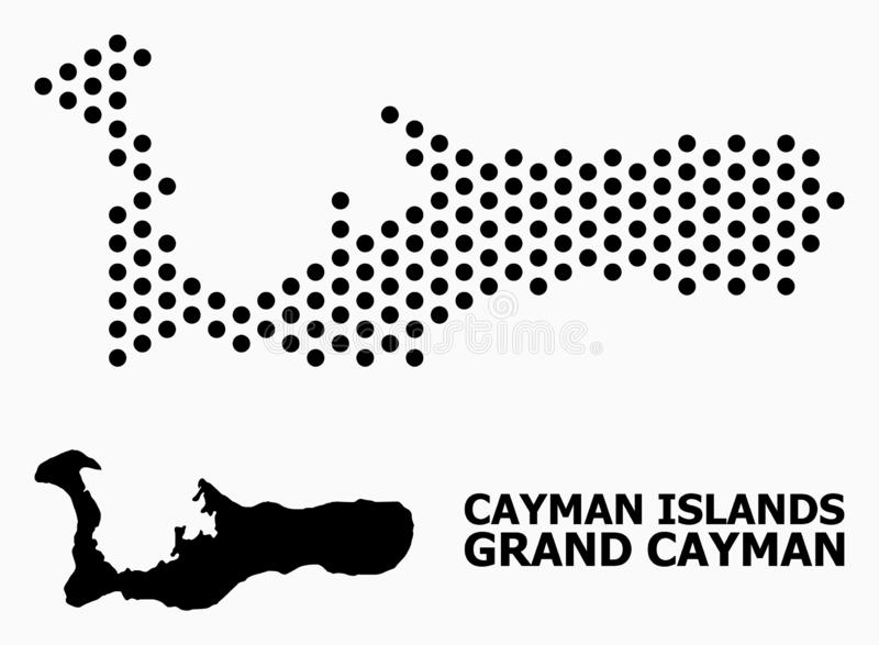 Dot Mosaic Map d'île de Grand Cayman illustration libre de droits