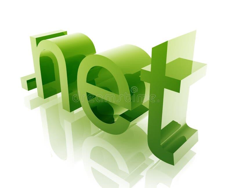 Dot net internet. Internet dot net word graphic, with metal chrome style vector illustration