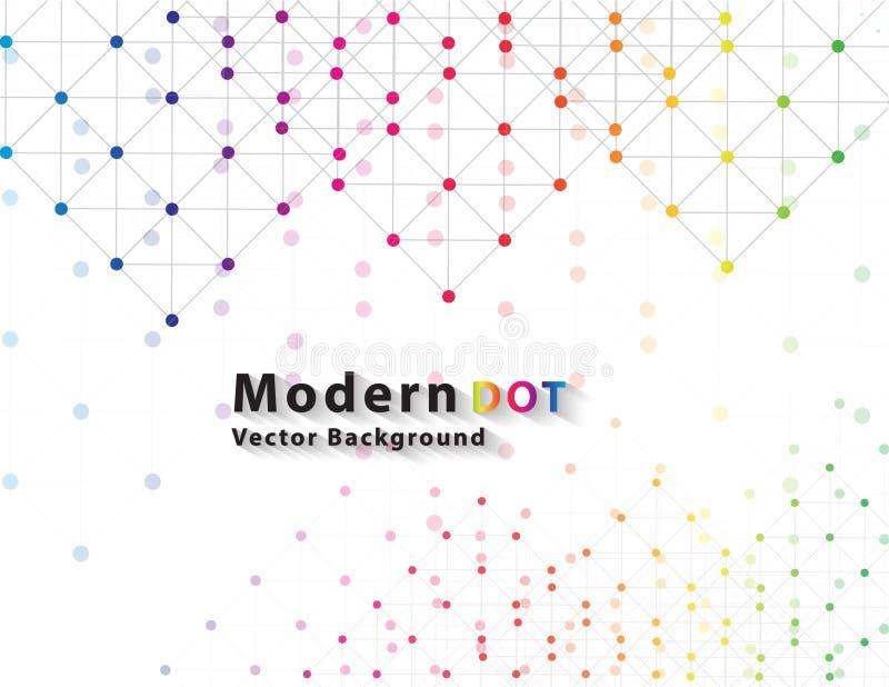 Dot Network färgteknologi royaltyfri illustrationer