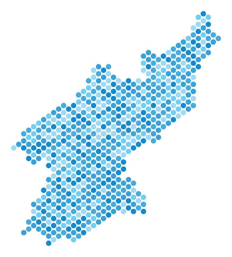 Dot North Korea Map bleu illustration de vecteur