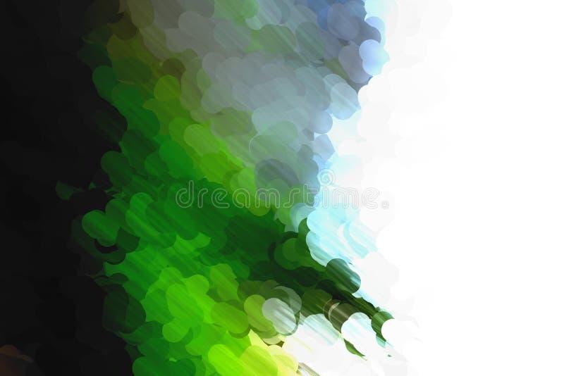 Dot paint green blue and black stock illustration