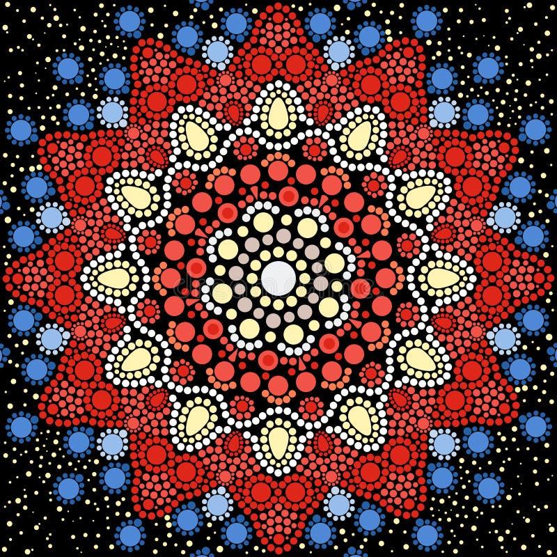 Dot painting meets mandalas 8. Aboriginal style of dot painting. And power of mandala royalty free illustration