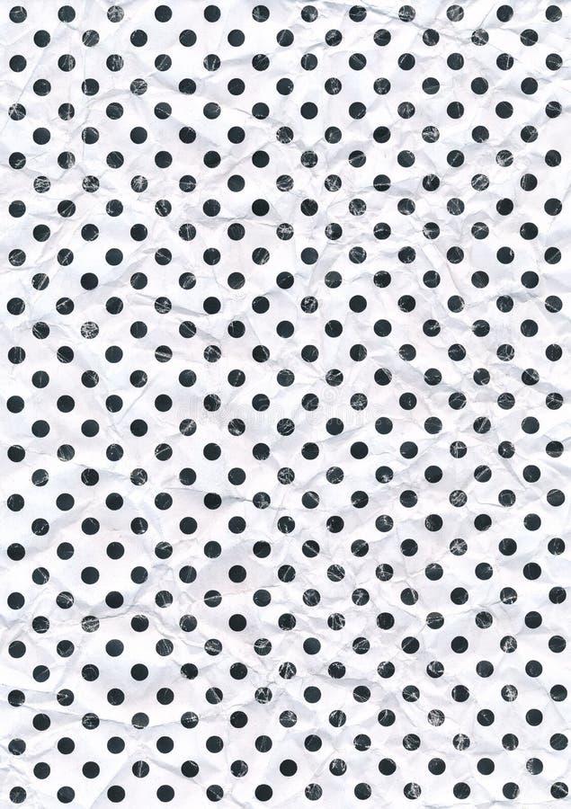 Dot Scanned Pattern Crumpled ou fundo feito a varredura amarrotado ilustração stock