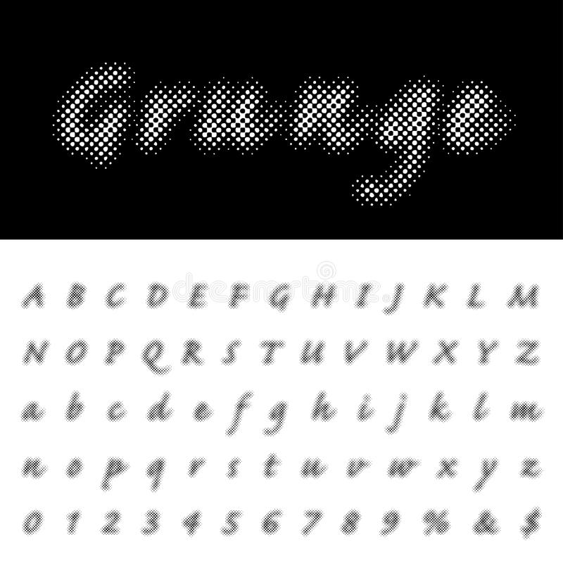 Download Dot Script Alpha Stock Vector Illustration Of Alphabet
