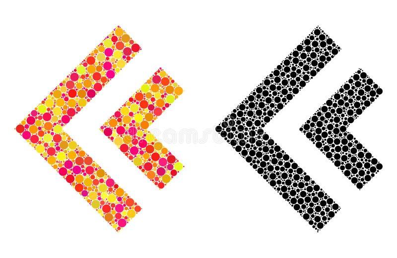 Dot Shift Left Mosaic Icons ilustração stock