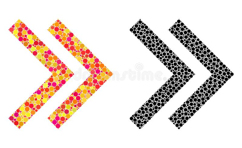 Dot Shift Right Mosaic Icons ilustração stock