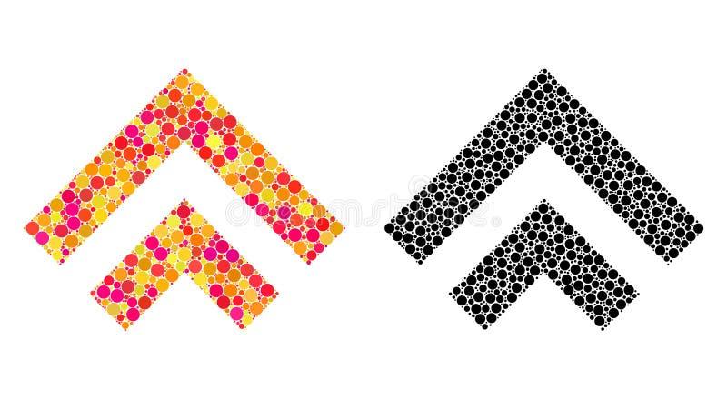 Dot Shift Up Mosaic Icons ilustração stock