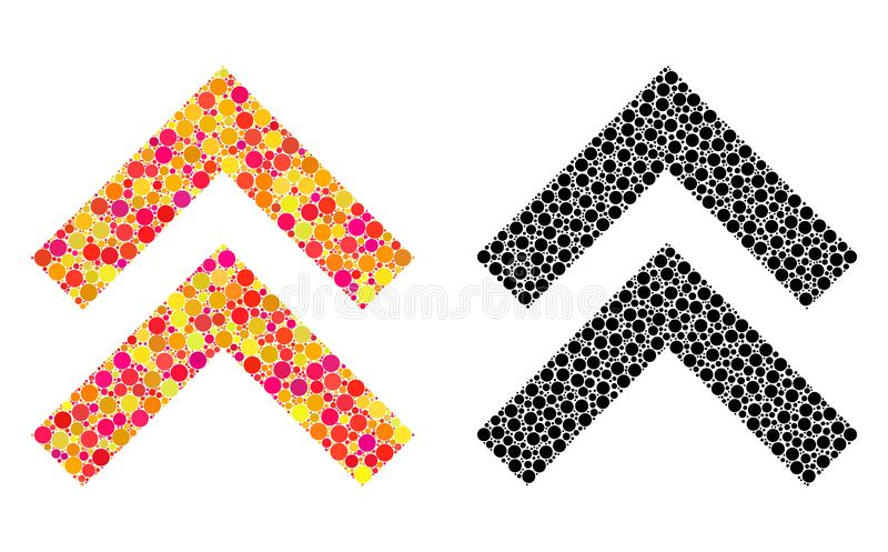 Dot Shift Up Mosaic Icons ilustração royalty free