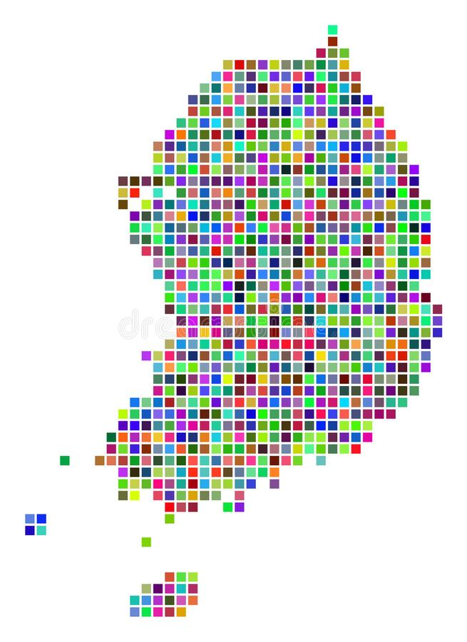 Dot South Korea Map coloré multi illustration stock