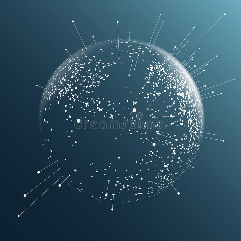 Dot sphere effect vector illustration