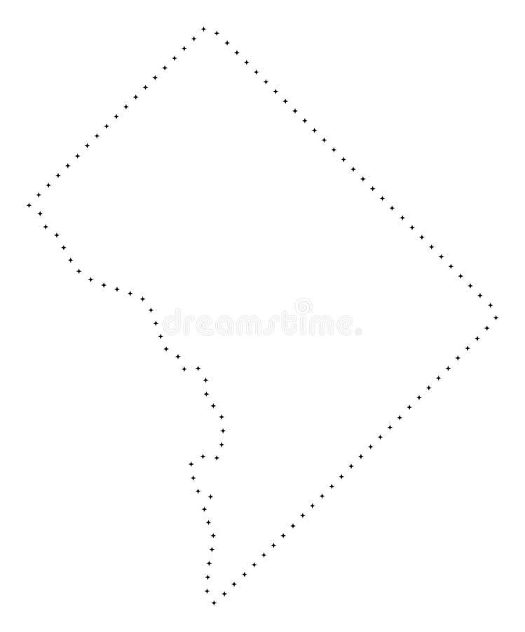 Dot Stroke Washington District Columbia-Kaart vector illustratie