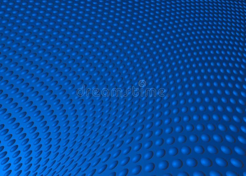 Dot Swirl Background Illustration azul abstracto ilustración del vector