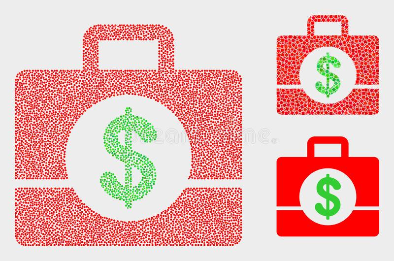 Dot Vector Business Case Icons libre illustration