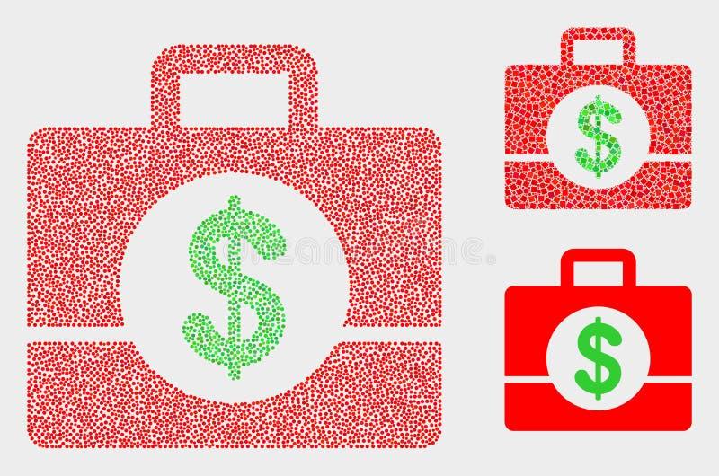Dot Vector Business Case Icons lizenzfreie abbildung