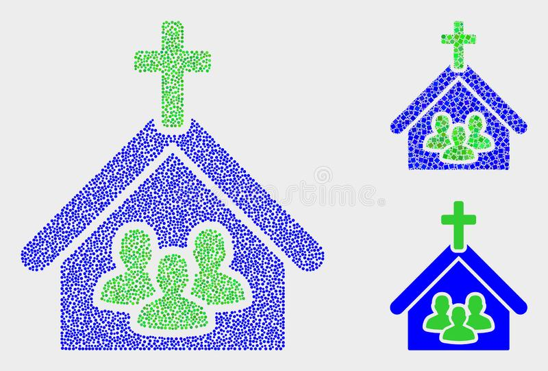 Dot Vector Church People Icons stock abbildung