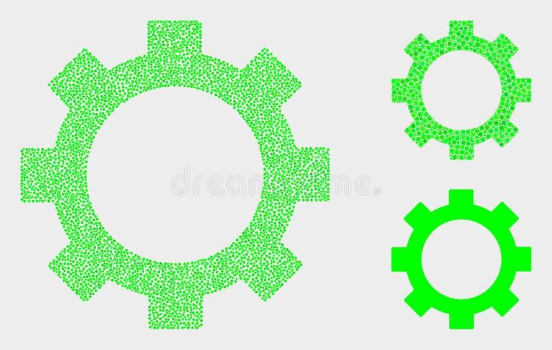 Dot Vector Gear Icons stock illustration