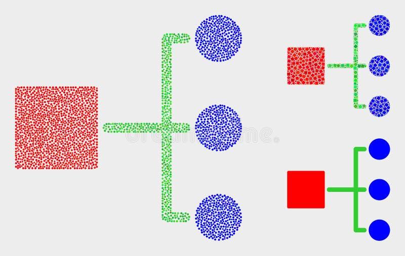 Dot Vector Hierarchy Icons lizenzfreie abbildung