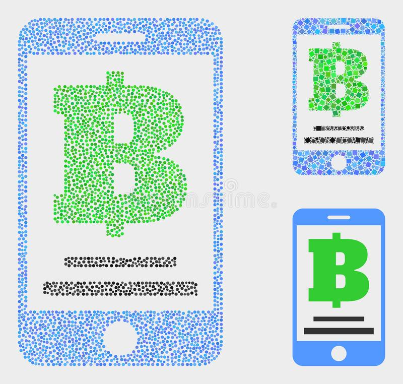 Dot Vector Mobile Bank Icons stock illustratie
