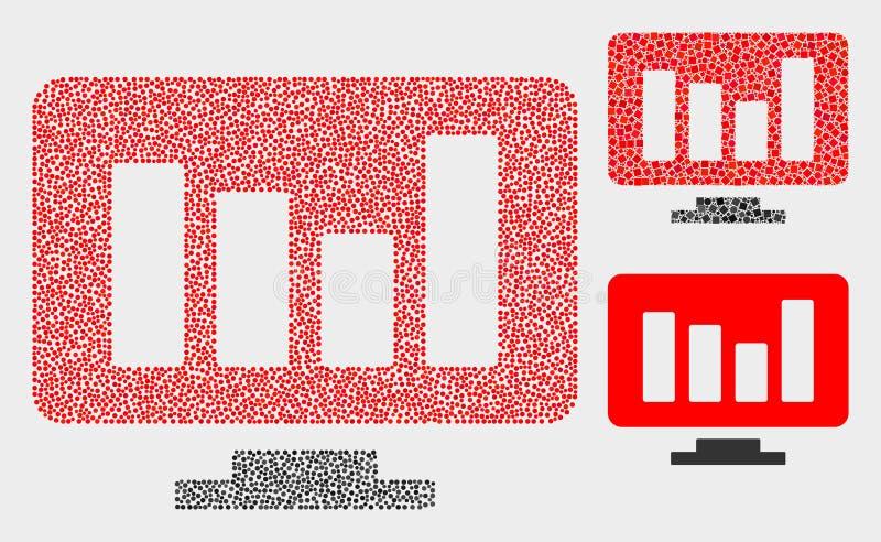 Dot Vector Online Chart Icons stock de ilustración