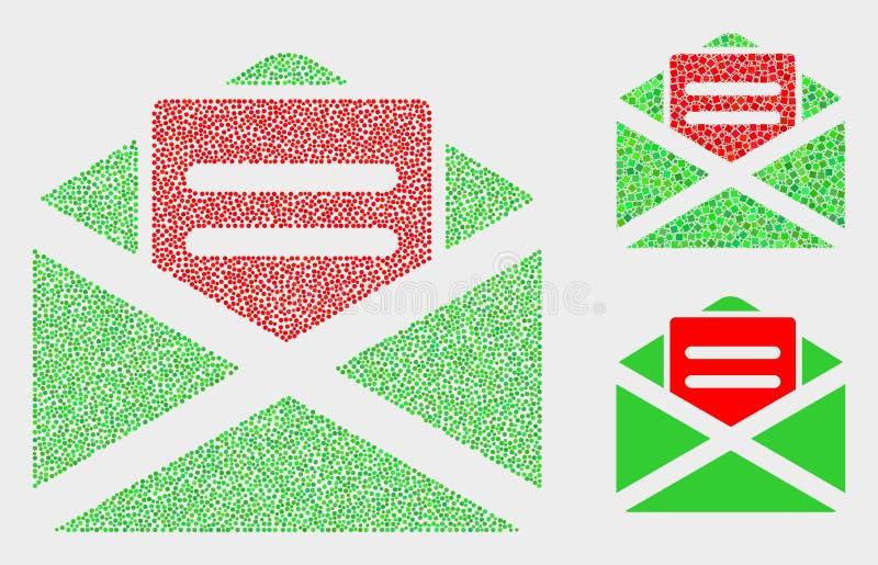 Dot Vector Open Mail Icons vector illustratie