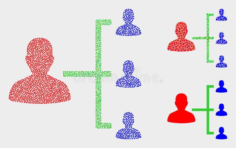 Dot Vector People Hierarchy Icons illustrazione vettoriale
