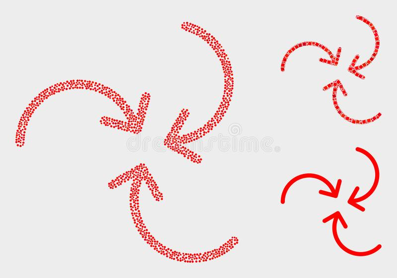 Dot Vector Swirl Arrows Icons vektor abbildung