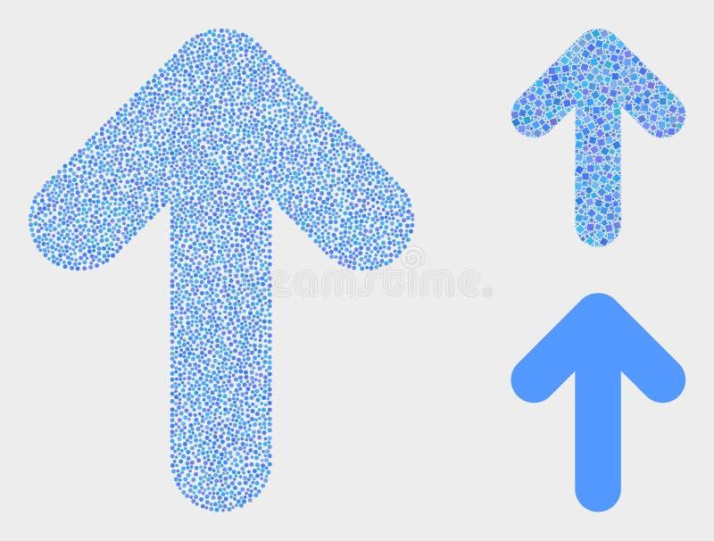 Dot Vector Up Arrow Icons lizenzfreie abbildung