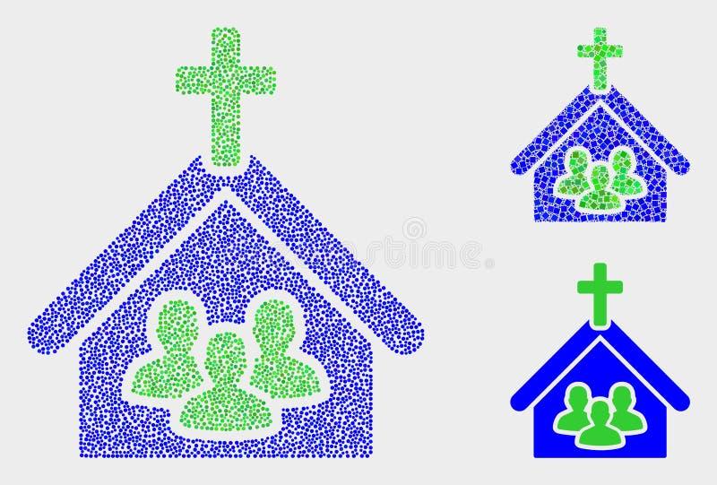 Dot Vetora Church People Icons ilustração stock