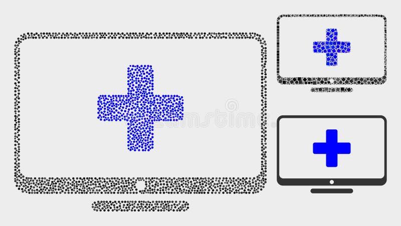 Dot Vetora Computer Medicine Icons ilustração do vetor