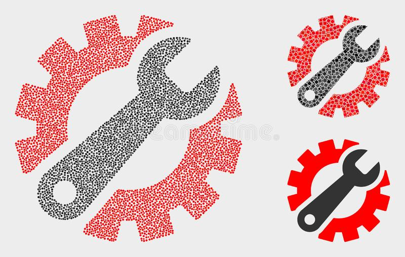 Dot Vetora Gear Tools Icons ilustração do vetor