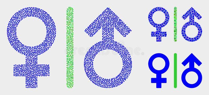 Dot Vetora Gender Symbols Icons ilustração royalty free
