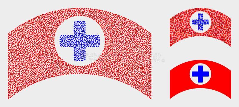 Dot Vetora Medical Cap Icons ilustração stock