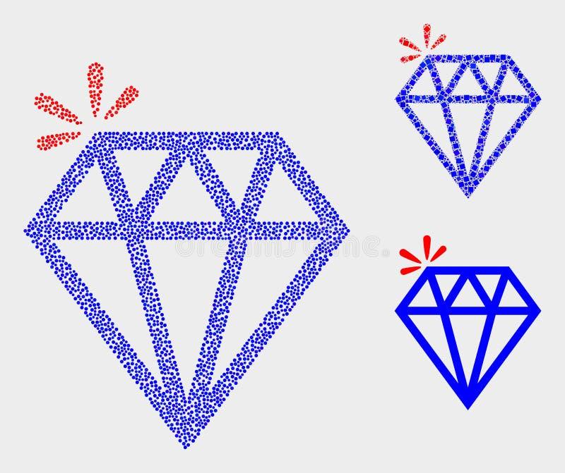 Dot Vetora Spark Brilliant Icons ilustração do vetor