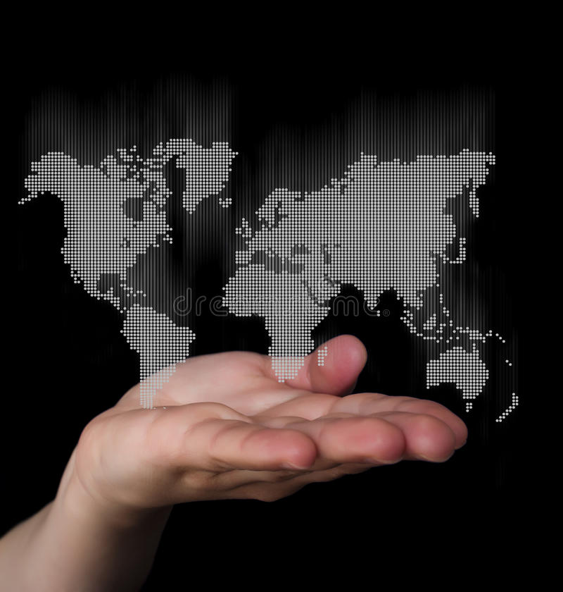 Dot World Map Business Background Stock Photo