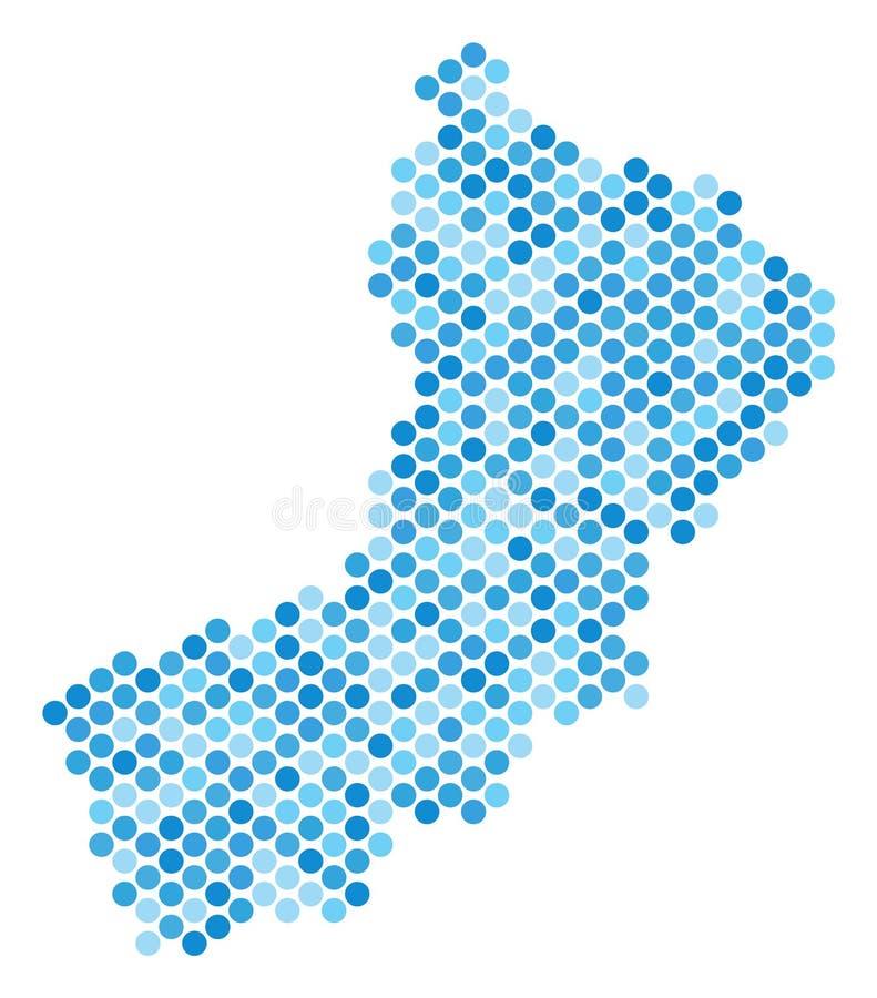 Dot Yemen Map bleu illustration libre de droits