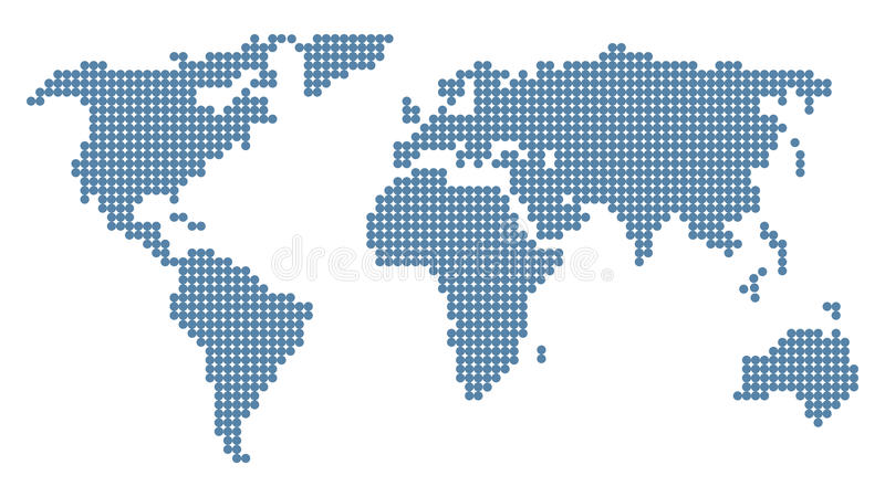 Doted world map royalty free illustration