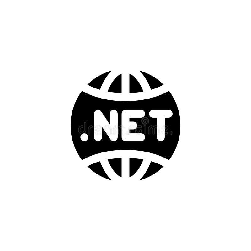 Dotnetpictogram met de vectorillustratie van de glyphstijl stock illustratie