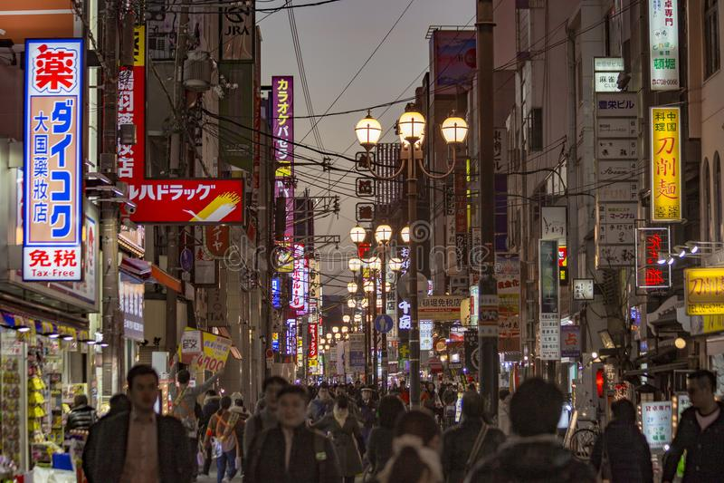 Dotombori-Bezirk Osaka Japan lizenzfreies stockbild