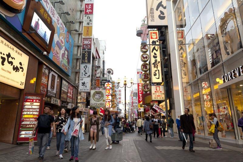 Dotonbori, Οζάκα, Ιαπωνία στοκ εικόνα με δικαίωμα ελεύθερης χρήσης
