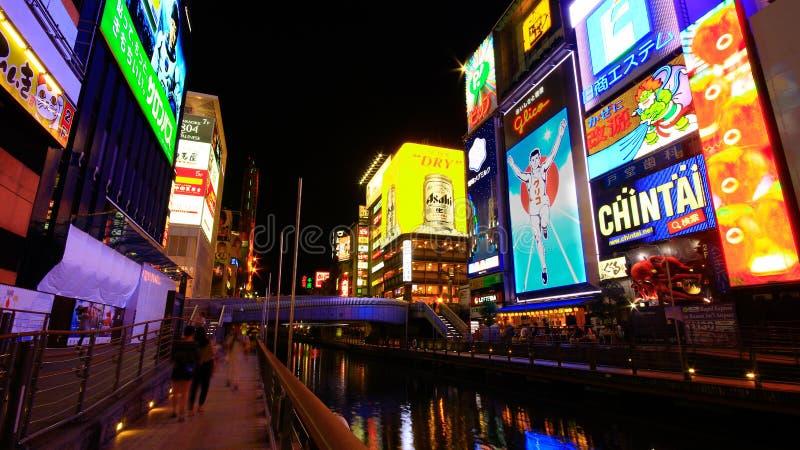 Dotonbori ο διάσημος προορισμός για τον ταξιδιώτη στην πόλη της Οζάκα, Οζάκα, Ιαπωνία στοκ φωτογραφία με δικαίωμα ελεύθερης χρήσης