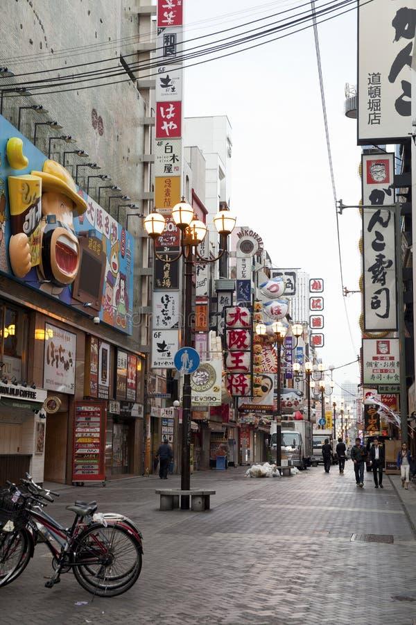 Dotonbori, Осака, Япония стоковая фотография rf