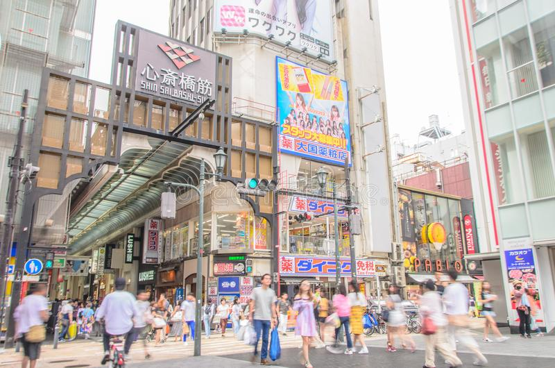 Dotonbori entertainment district royalty free stock images