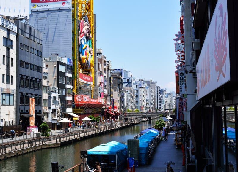 Dotonbori-Kanal in Namba, Osaka, Japan stockbild