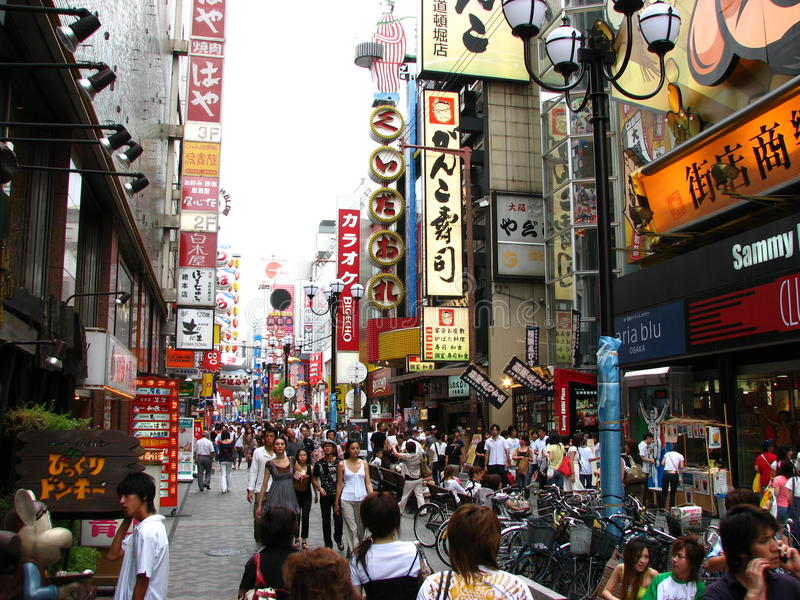 Download Dotonbori in Osaka, Japan editorial photo. Image of tourism - 18011966