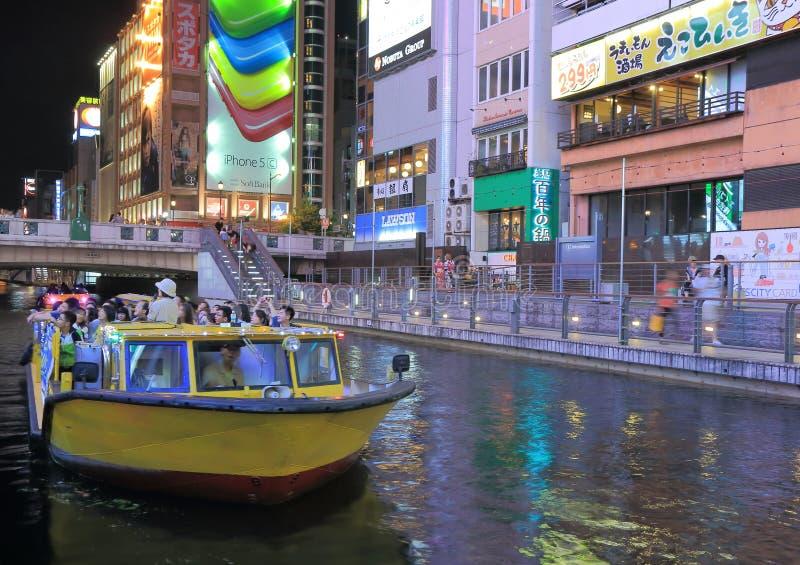 Dotonbori sightfartyg Osaka arkivfoton