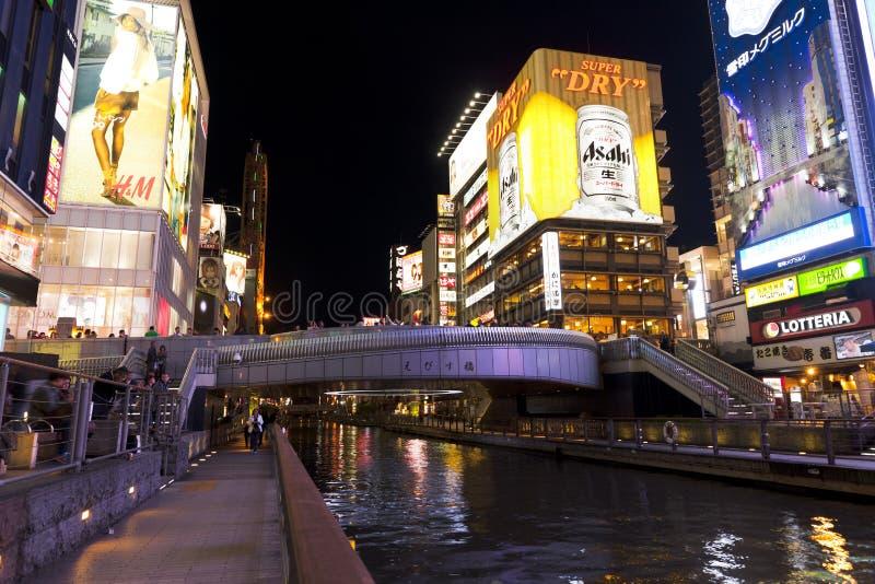 Dotonborigebied, Osaka stock foto's